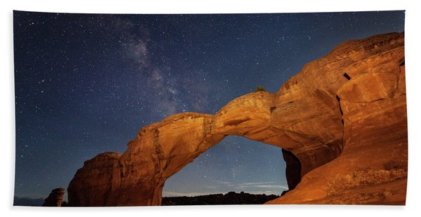 Broken Arch And Milky Way Hand Towel