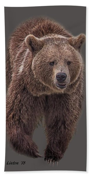 Bath Towel featuring the digital art Brown Bear 8   by Larry Linton