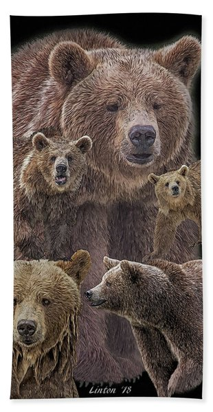 Bath Towel featuring the digital art Brown Bears 8 by Larry Linton