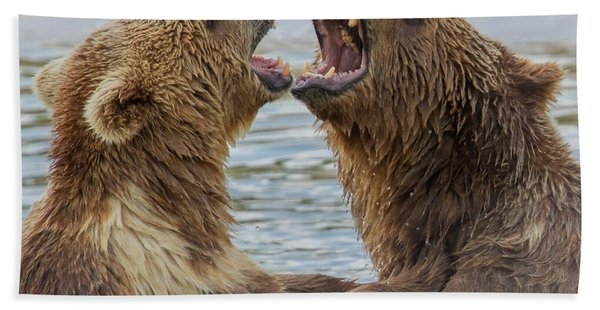 Bath Towel featuring the photograph Brown Bears4 by Larry Linton