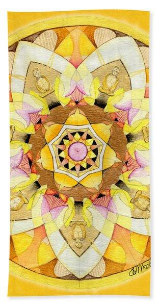 Buddha Sun Mandala Bath Towel