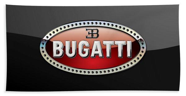 Bugatti - 3 D Badge On Black Bath Towel