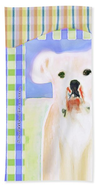 Bulldog Rana Art 40 Hand Towel