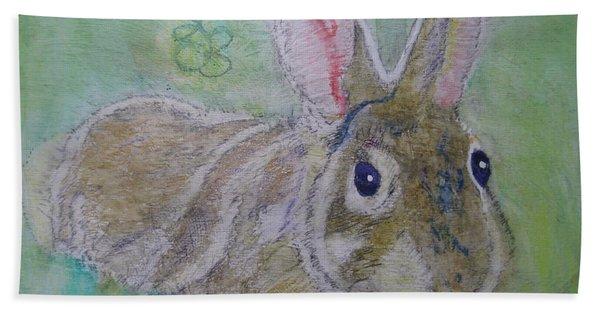 bunny named Rocket Hand Towel