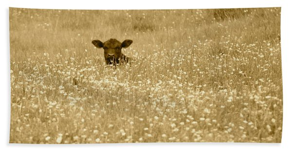 Buttercup In Sepia Hand Towel
