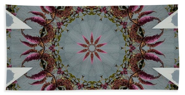 Butterfly Bush Kaleidoscope Hand Towel
