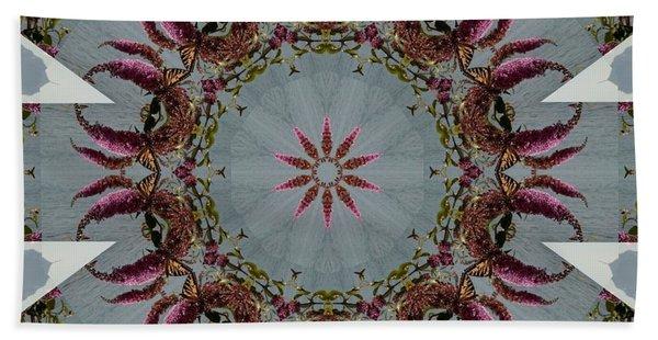 Butterfly Bush Kaleidoscope Bath Towel