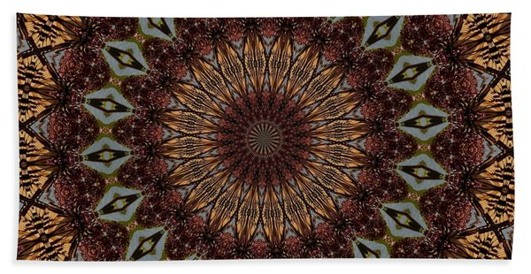 Butterfly Bush Mandala Hand Towel
