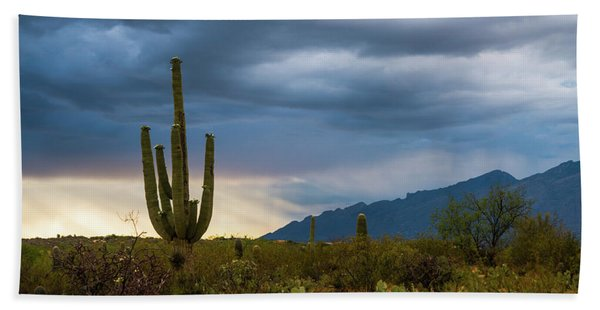 Cactus Sunset Saguaro National Park Arizona Bath Towel