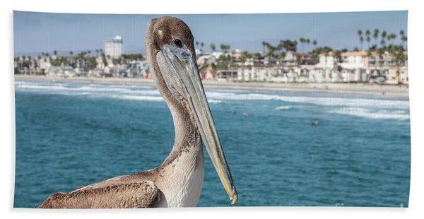 California Pelican Hand Towel
