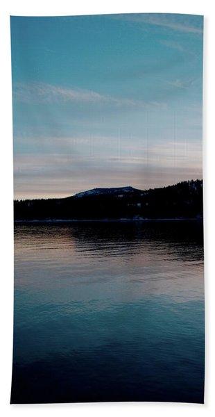 Calm Blue Lake Hand Towel