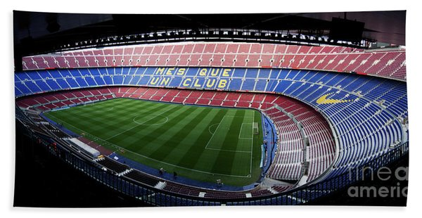 Camp Nou Hand Towel