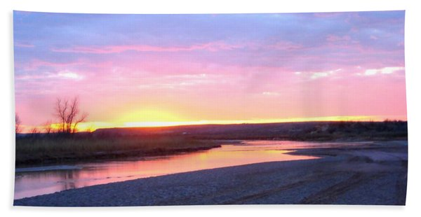 Canadian River Sunset Hand Towel
