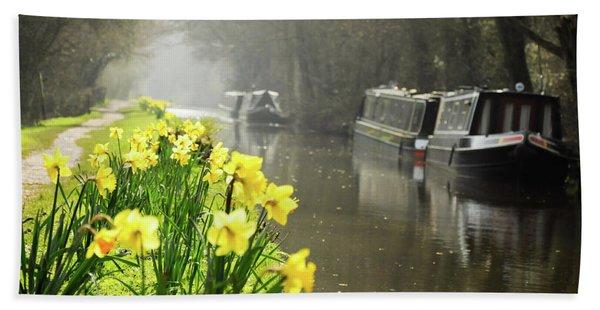 Canalside Daffodils Bath Towel