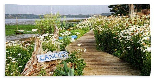 Canoes By Mike-hope Bath Towel