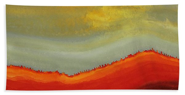 Canyon Outlandish Original Painting Hand Towel
