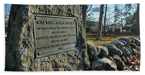 Captain John Locke Monument  Hand Towel