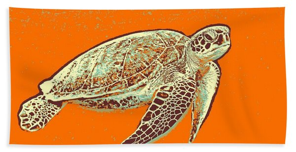 Caretta Caretta Sea Turtle Hand Towel