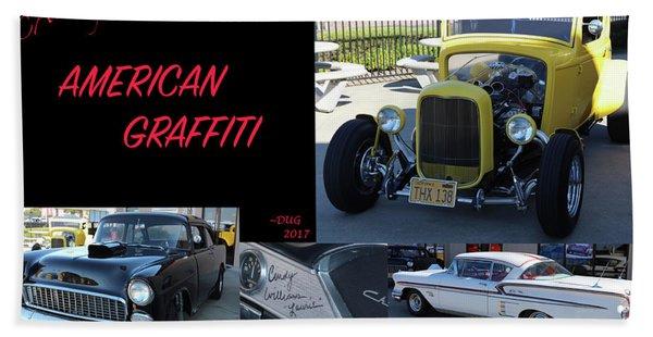 Cars From American Graffiti Hand Towel