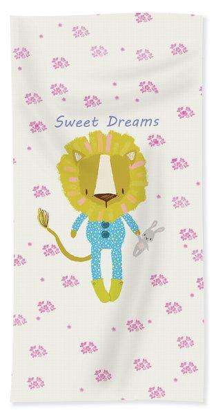 Cartoon Sweet Dreams Lion Hand Towel