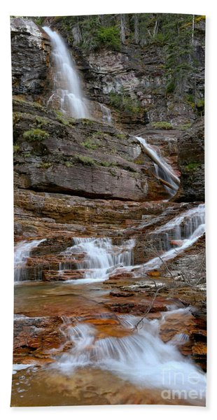 Cascades At Virginia Falls Hand Towel