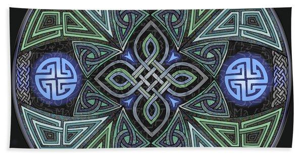 Celtic Ufo Mandala Bath Towel