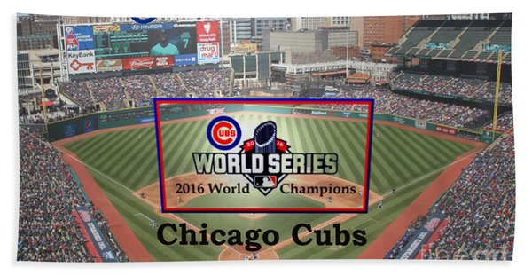 Chicago Cubs - 2016 World Series Champions Hand Towel