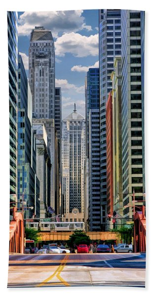 Chicago Lasalle Street Bath Towel