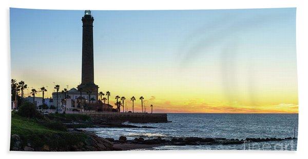 Chipiona Lighthouse Cadiz Spain Hand Towel