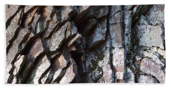 Chipped Rock Layers Photograph Hand Towel