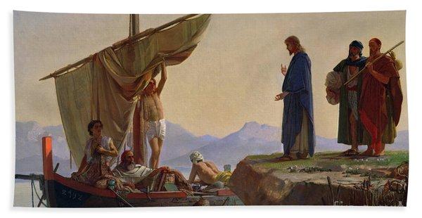 Christ Calling The Apostles James And John Hand Towel