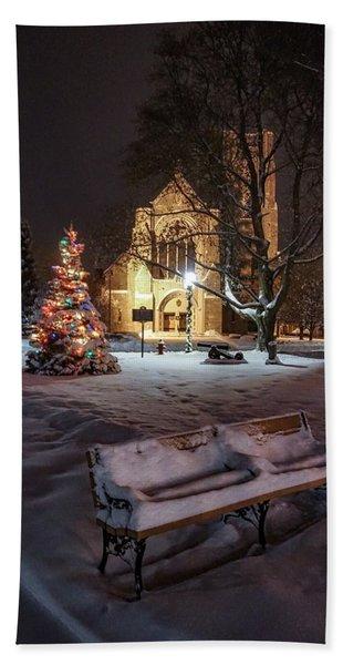 Church Of St Mary St Paul At Christmas Hand Towel