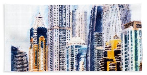 City Abstract Bath Towel