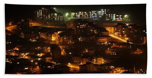 City At Night Bath Towel