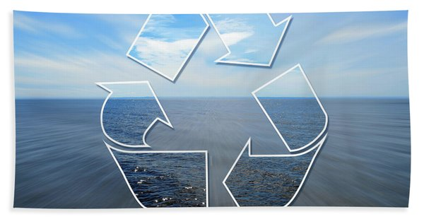Clear Vision Of Nature Through A Recycling Sign Bath Towel