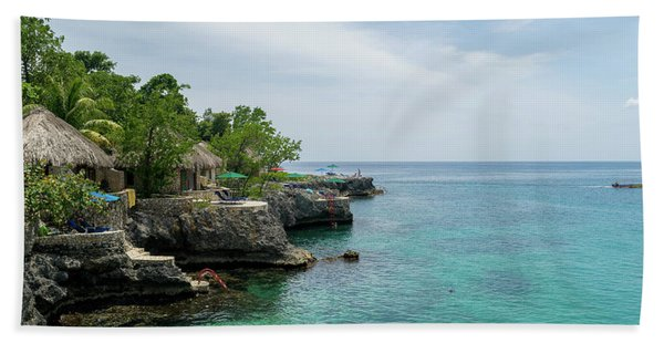 The Cliffs Of Negril Hand Towel