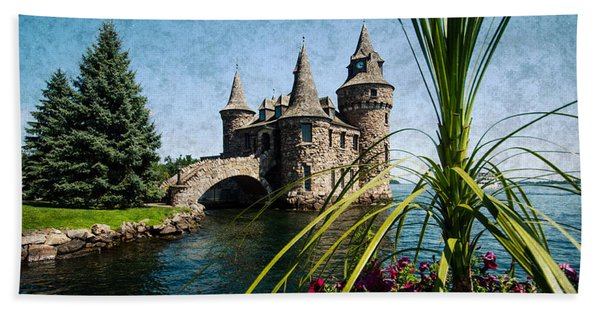 Boldt Castle Power House And Clock Tower Hand Towel