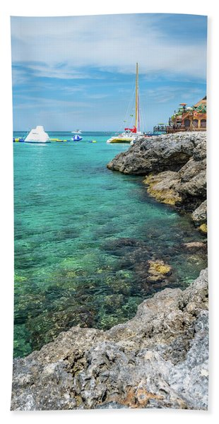 Coastline In Montego Bay Hand Towel