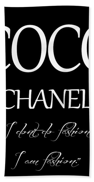 Coco Chanel Quote Hand Towel