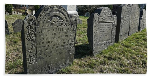 Colonial Graves At Phipps Street Hand Towel