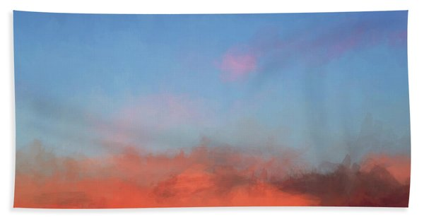 Color Abstraction Xlvii - Sunset Bath Towel