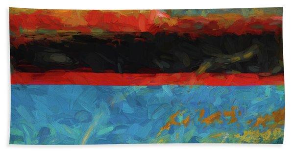Color Abstraction Xxxix Bath Towel