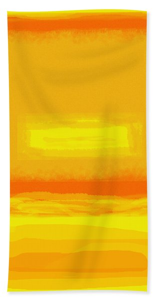 Color Field Sunset Yellow Hand Towel