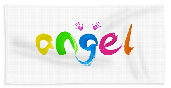 Colorful Angel Bath Towel