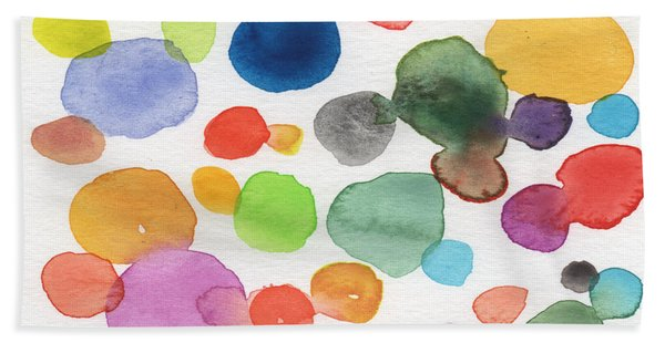 Colorful Bubbles Hand Towel