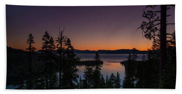 Colorful Sunrise In Emerald Bay Bath Towel