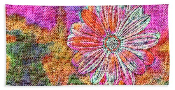 Colorful Watercolor Flower Bath Towel
