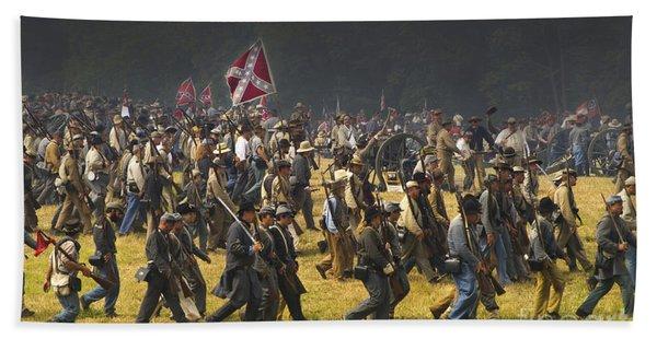 Confederate Charge At Gettysburg Bath Towel