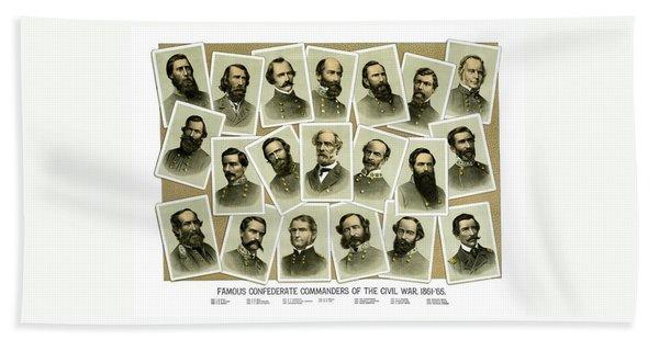 Confederate Commanders Of The Civil War Hand Towel