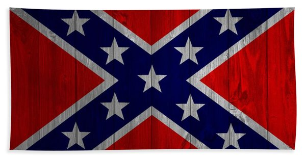 Confederate Flag Barn Door Bath Towel